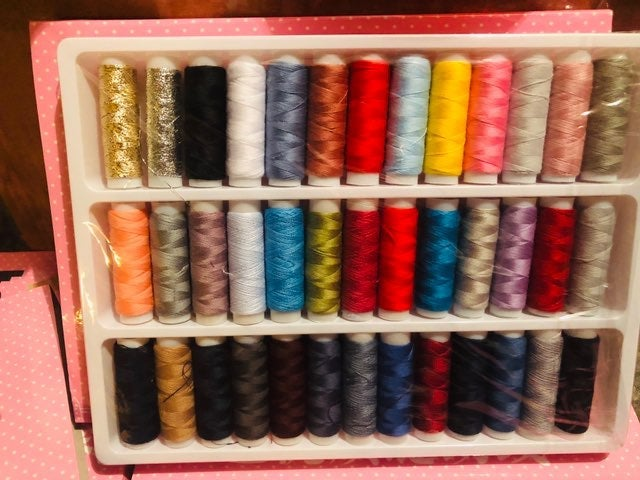 39 spools sewing threads