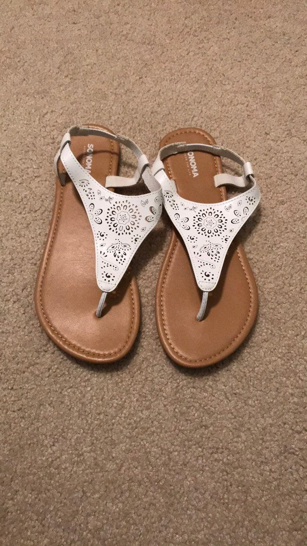 White Floral Sandals