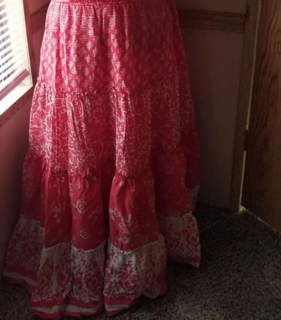 Coral Bohemian Skirt