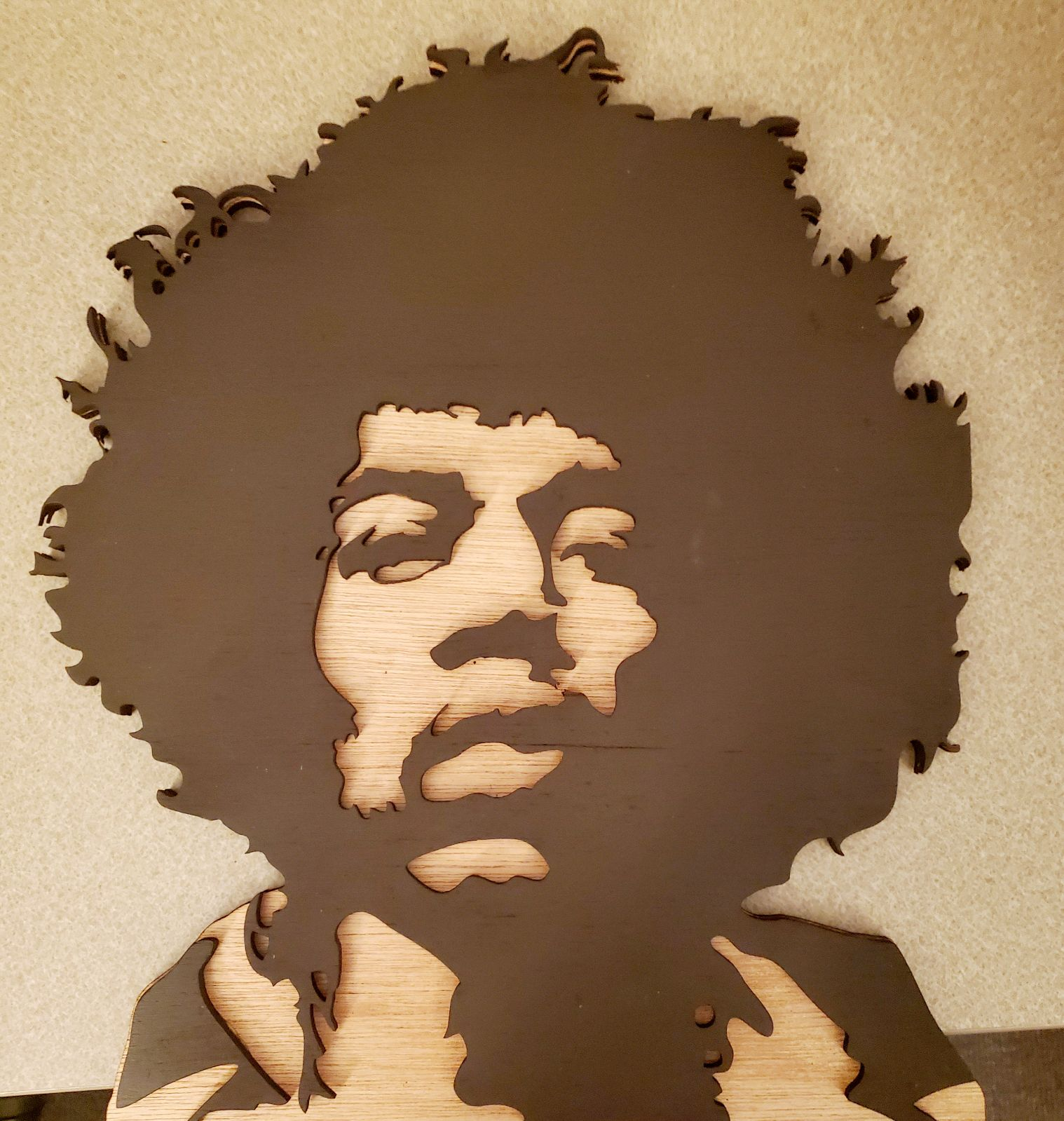 Jimi Hendrix Laser Engraved Home Decor