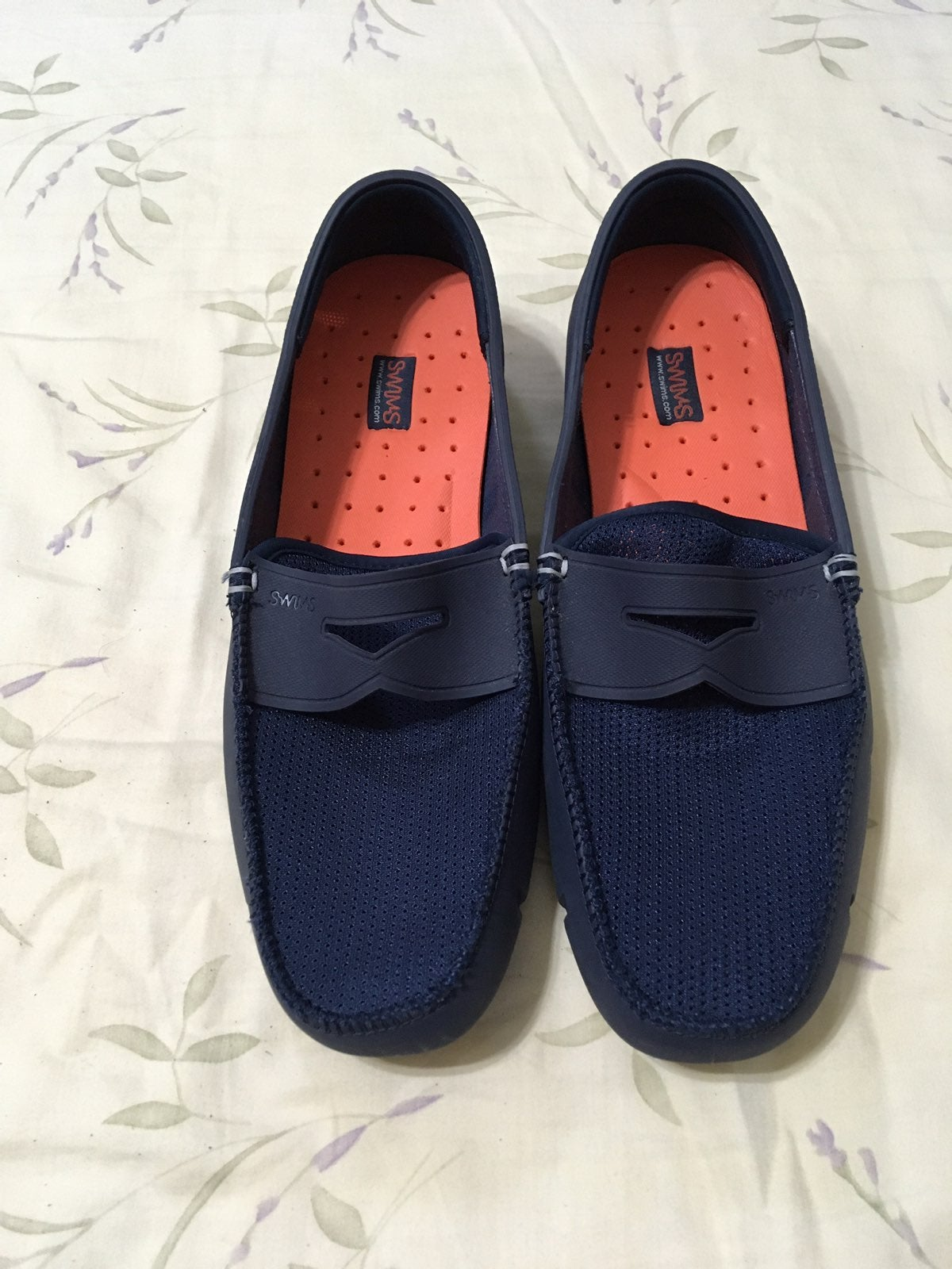 Blue Mesh Rubber Loafers