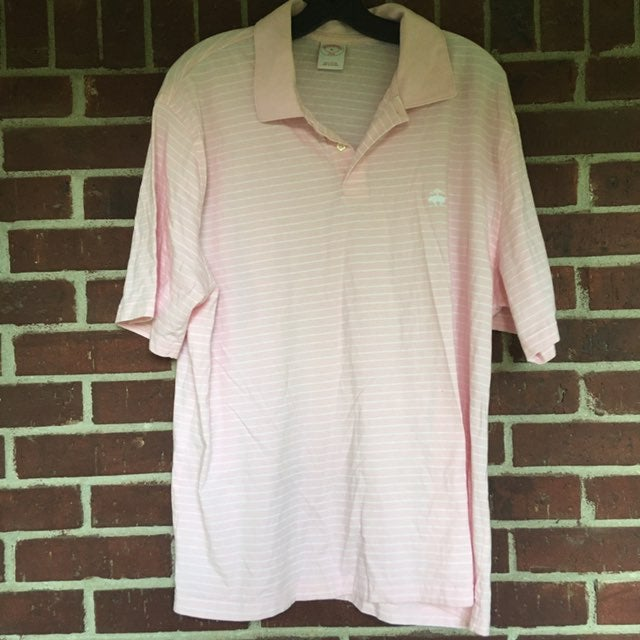 Pink Brooks Brothers Men Collar Shirt