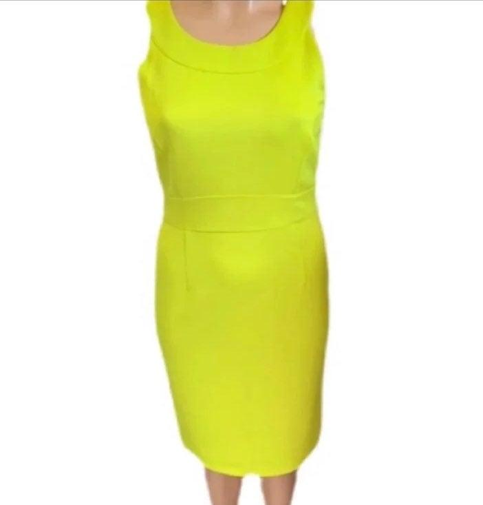 Spense Neon Yellow Dress
