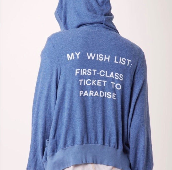Wildfox Wish List Malibu paradise hoodie
