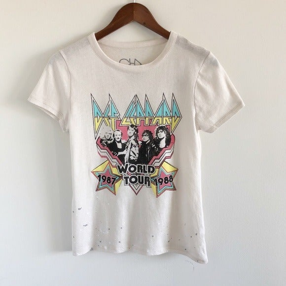 NWT Chaser Def Leppard World Tour Tee S