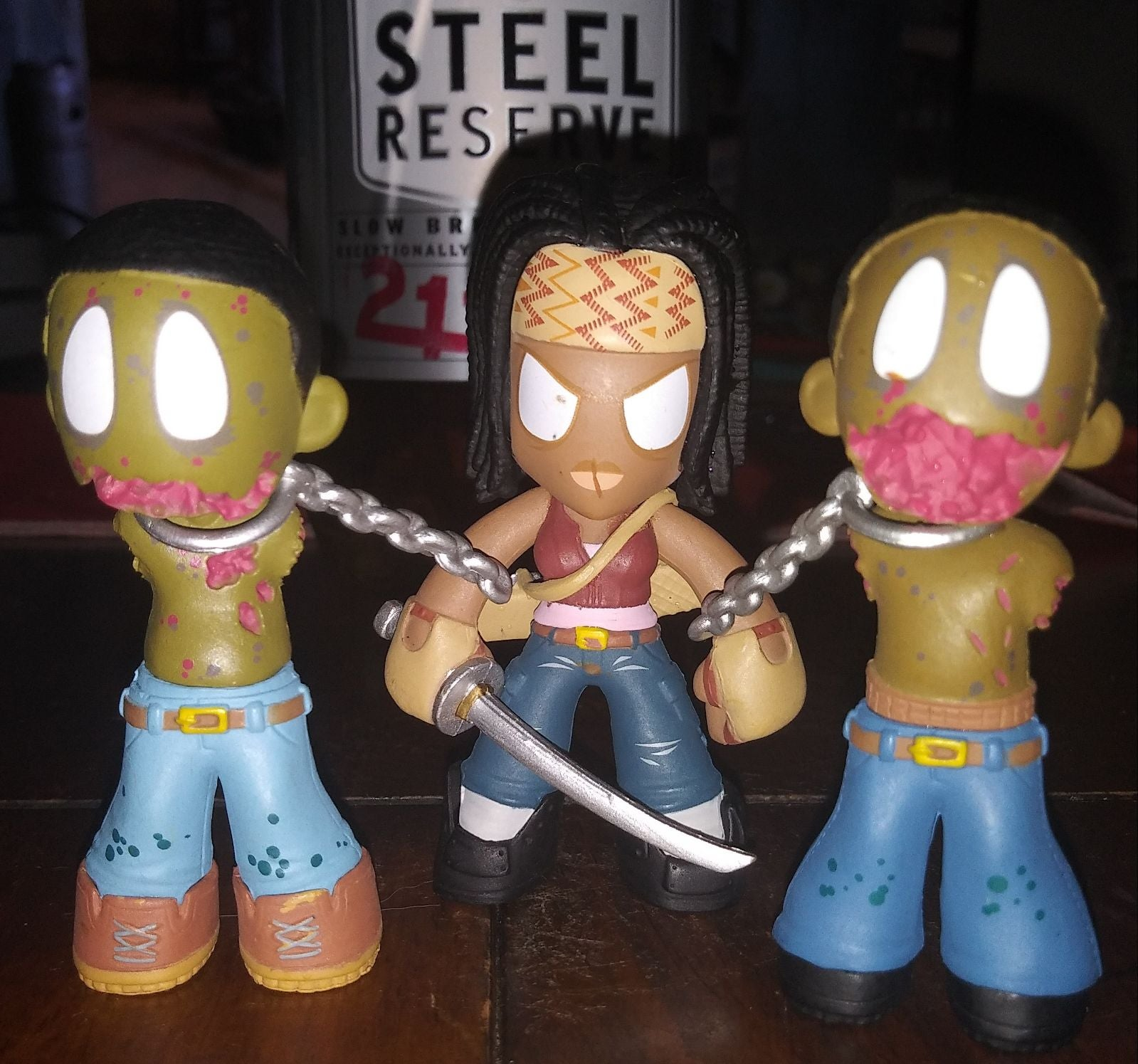 TWD Michonne & Her 2 Walkers on chains