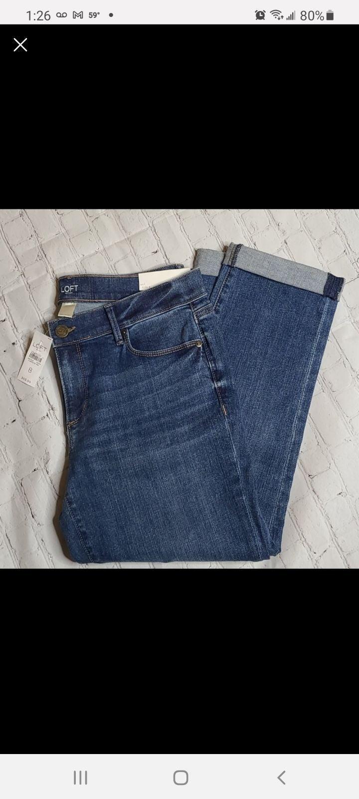 LOFT Cuffed Crop Jeans