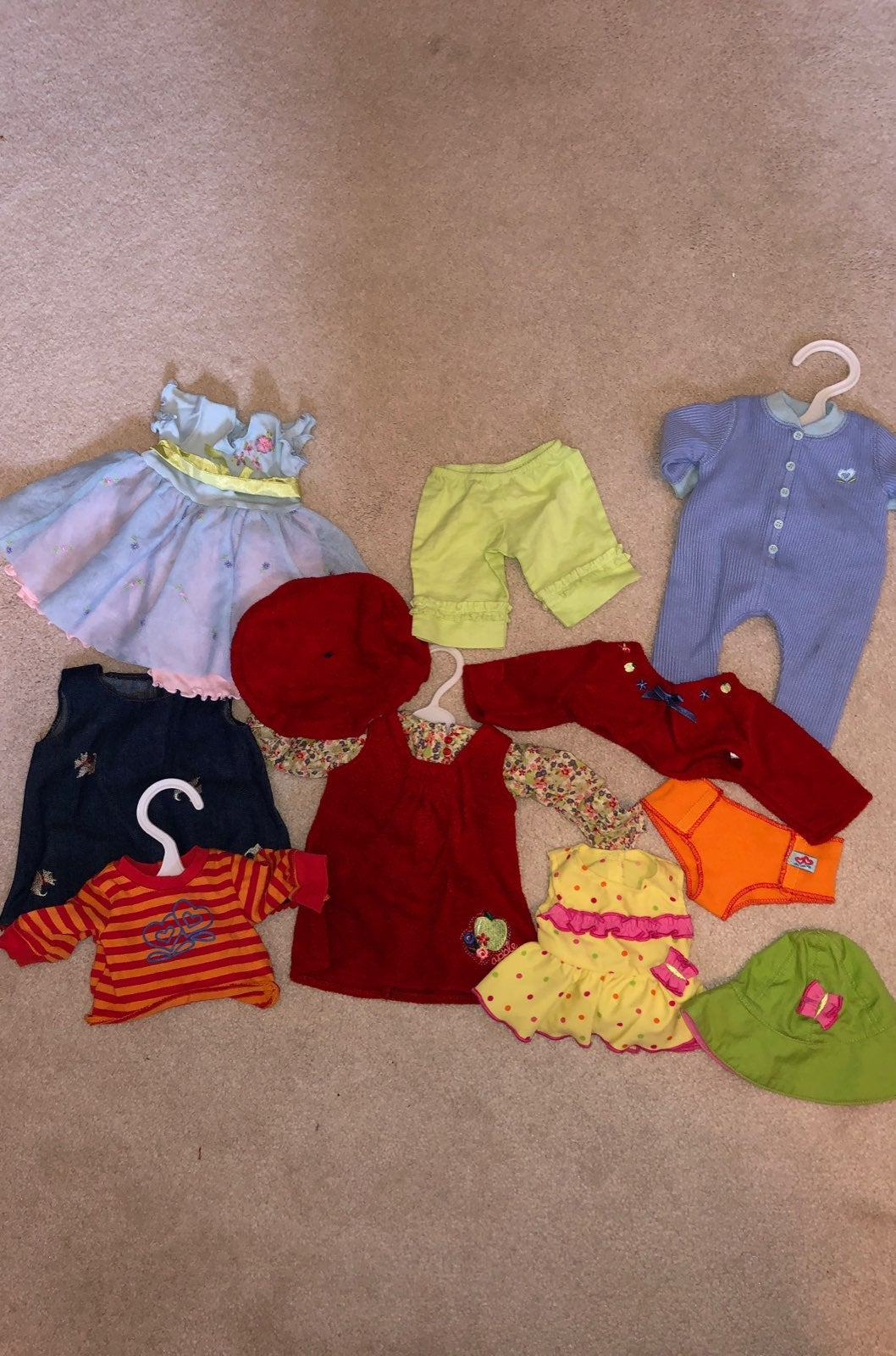 set of bitty baby clothes
