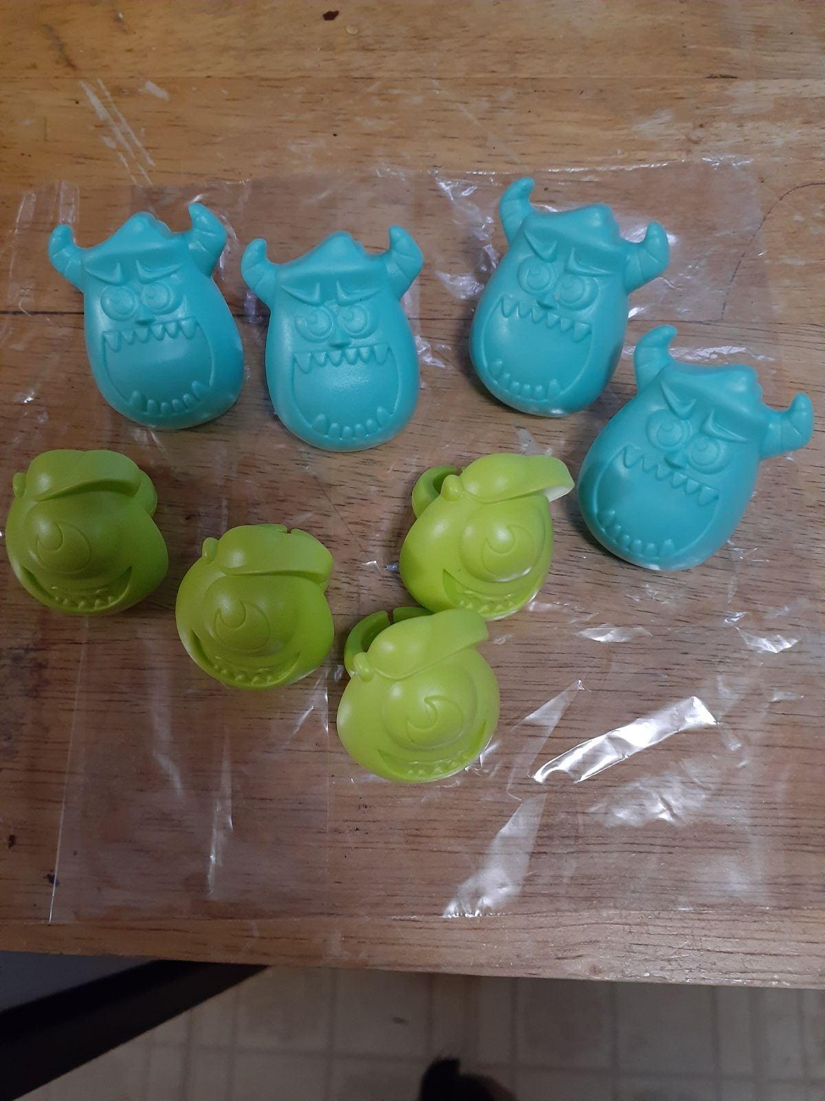 Monsters inc cupcake topper rings
