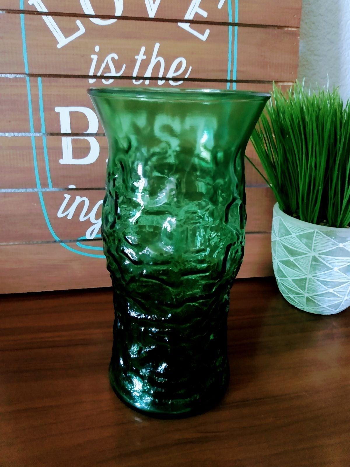 E.O. Brody Green Depression Glass Vase
