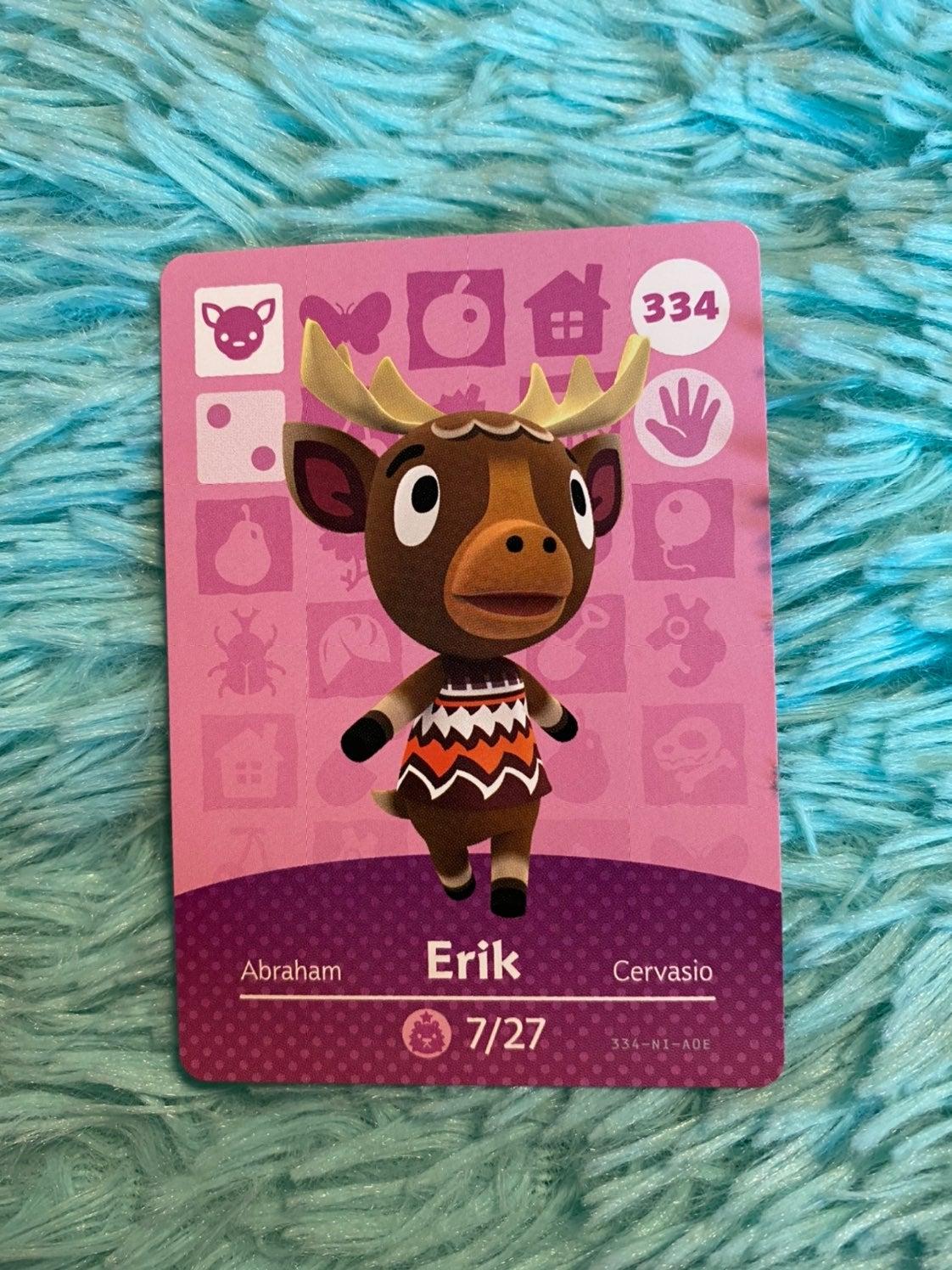 Erik - Animal Crossing Amiibo Card