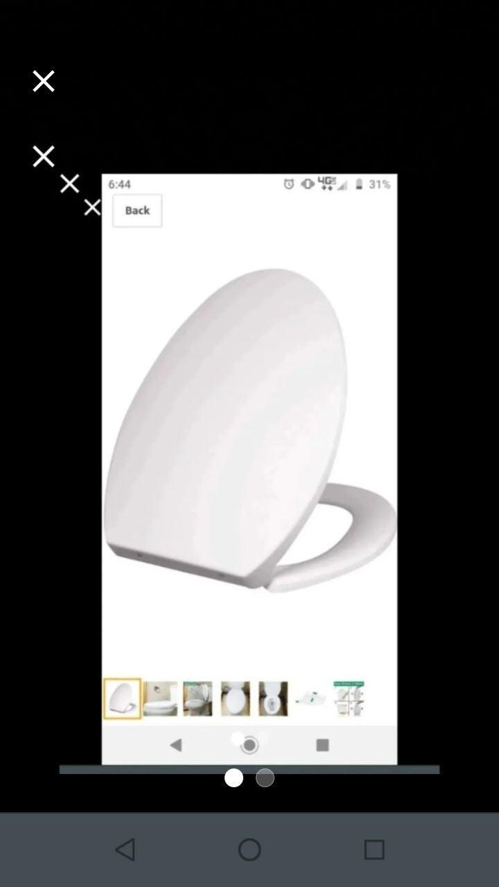 Purelux elongated toilet seat