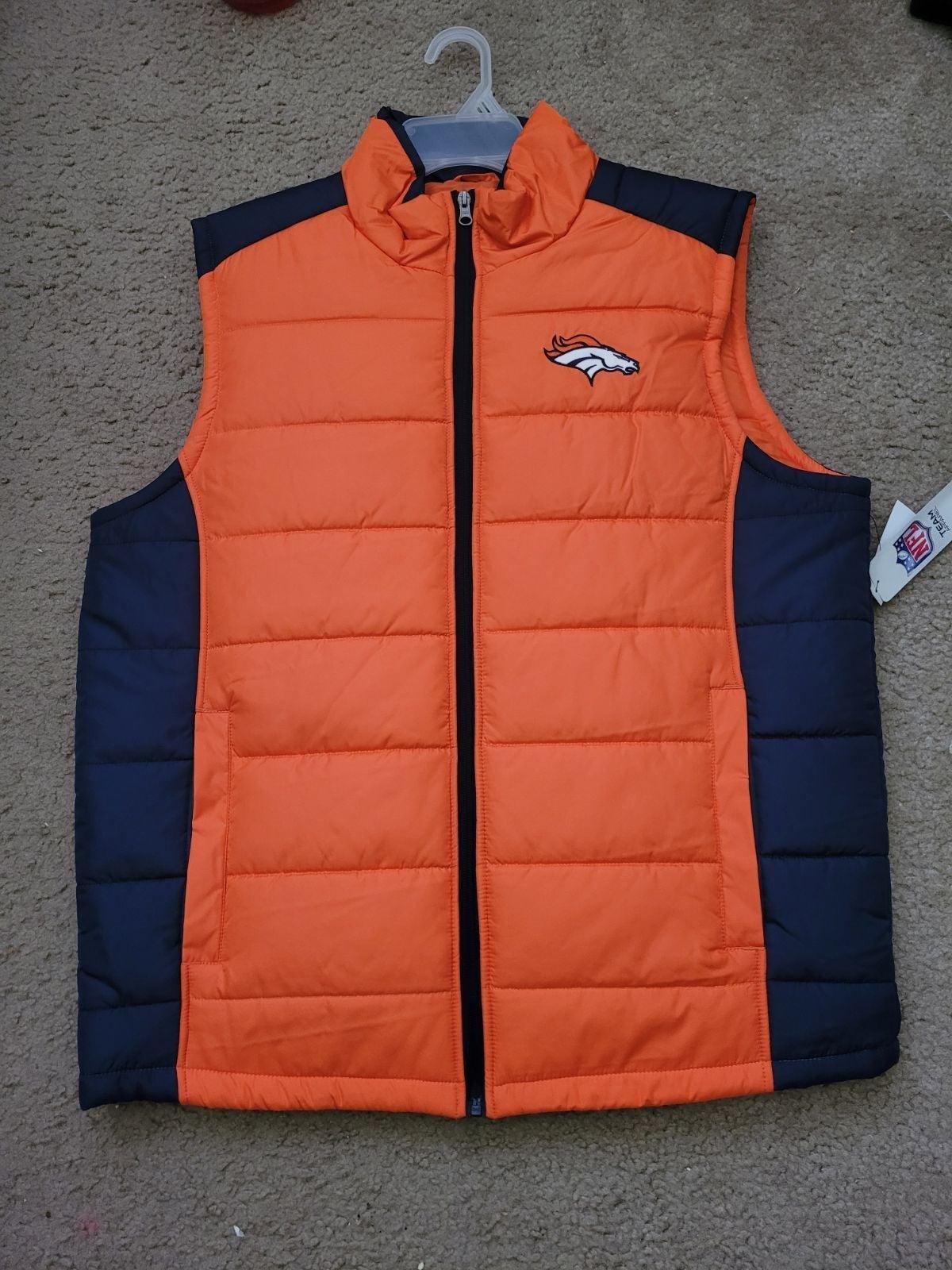 Large Denver Broncos vest.