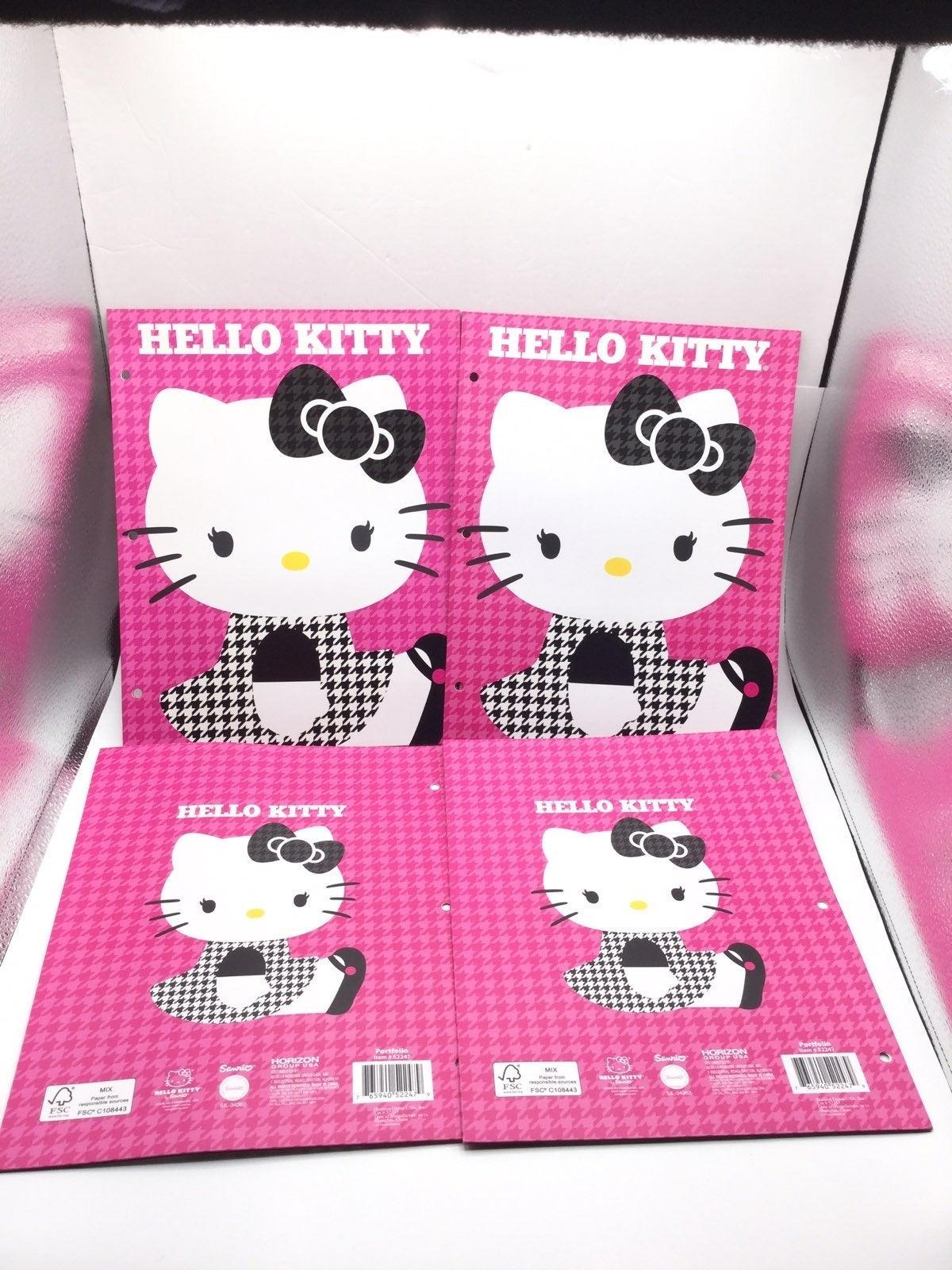 Hello Kitty School Folder Set 4pc