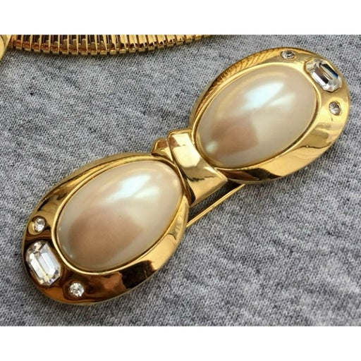 VTG SIGNED CRAFT  PEARL Crystal brooch