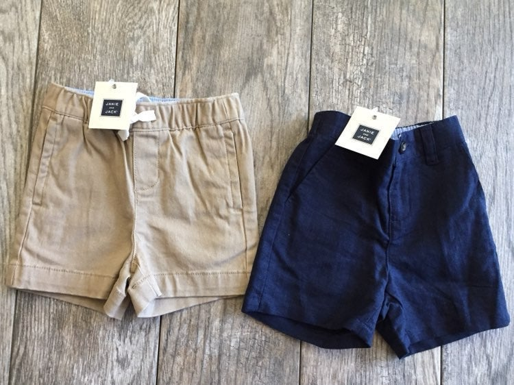 Janie and Jack Boys Shorts 6 to 12 Mos