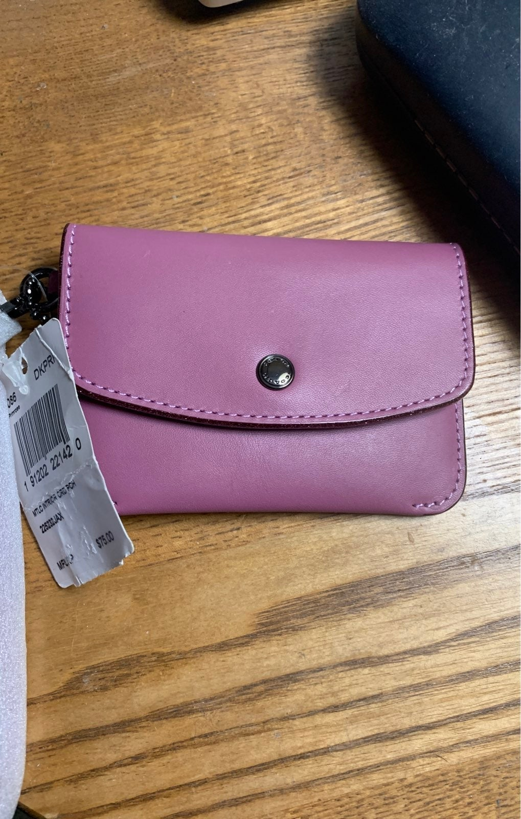 Coach primrose card pouch with strap nwt