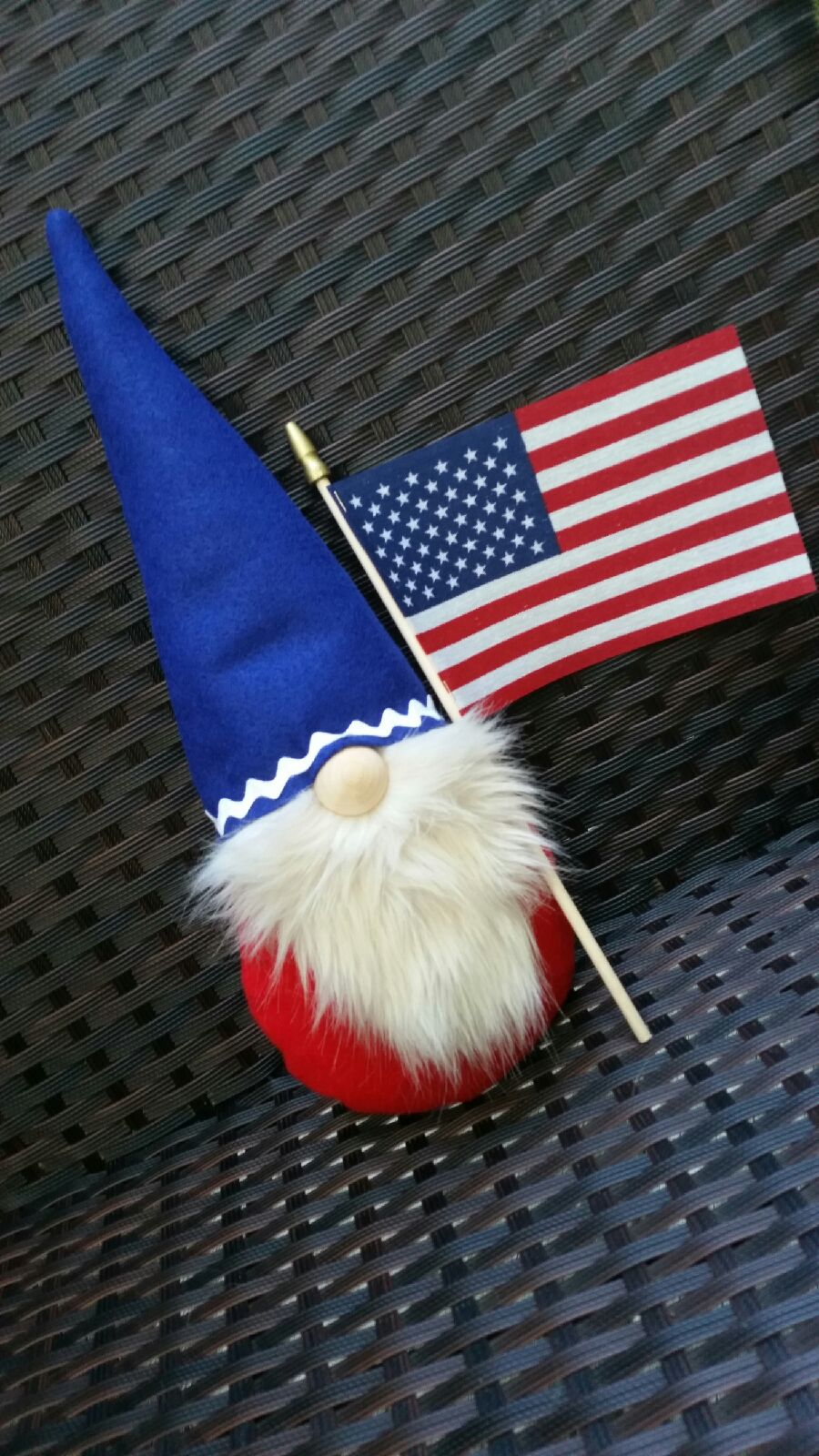 Gnome. Flag. Soft sculpture. New.
