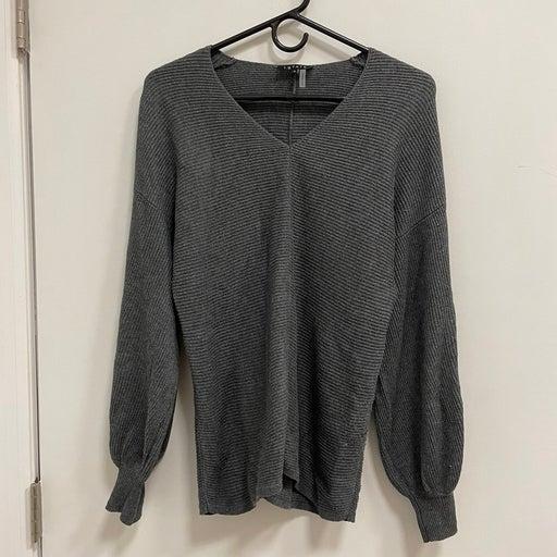 1.STATE Rib Knit Puff Sleeve Sweater