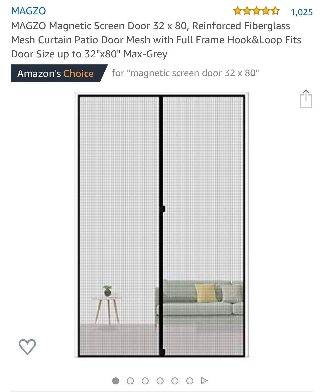 MAGZO Magnetic Screen Door 32 x 80