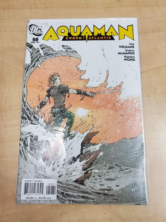 DC COMICS AQUAMAN SWORD OF ATLANTIS #50