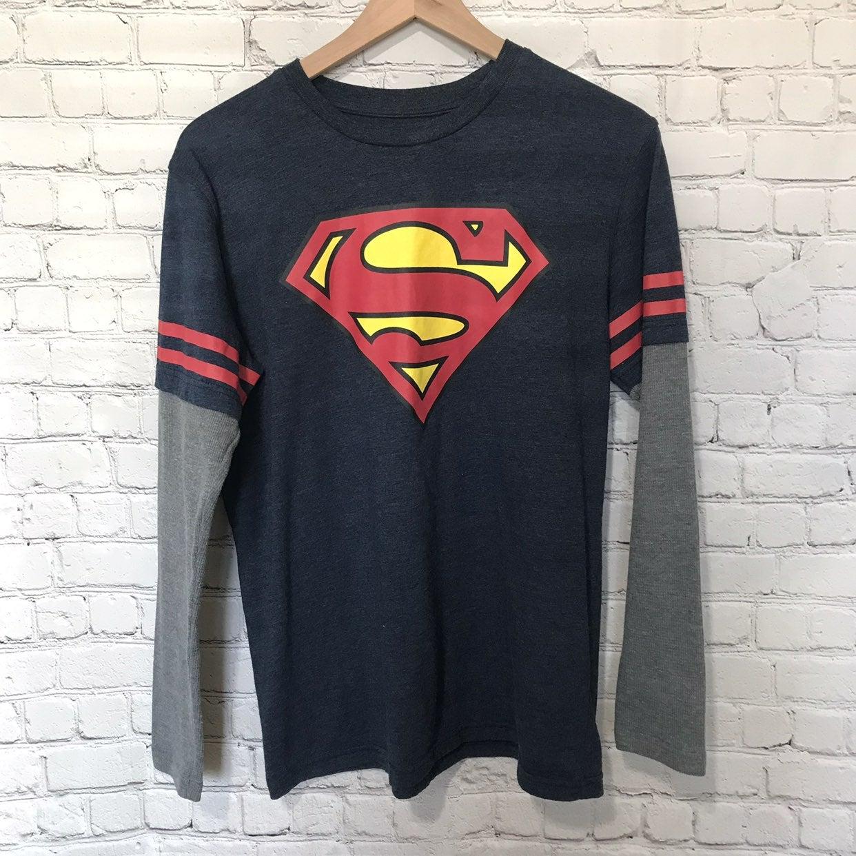 Superman Layered Look Long Sleeve Tee