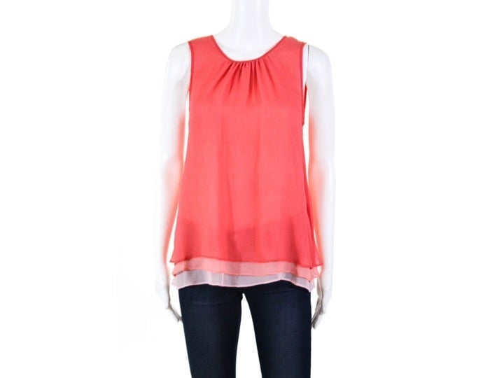 MADISON MARCUS Silk Chiffon Top