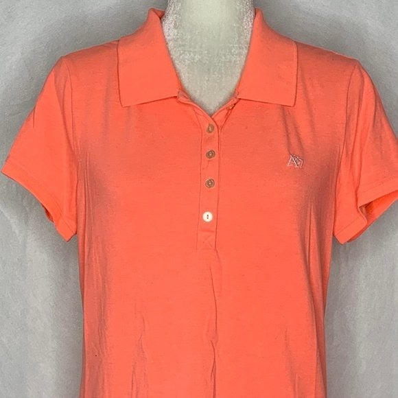 Aeropostale Neon 5 Button Polo Shirt