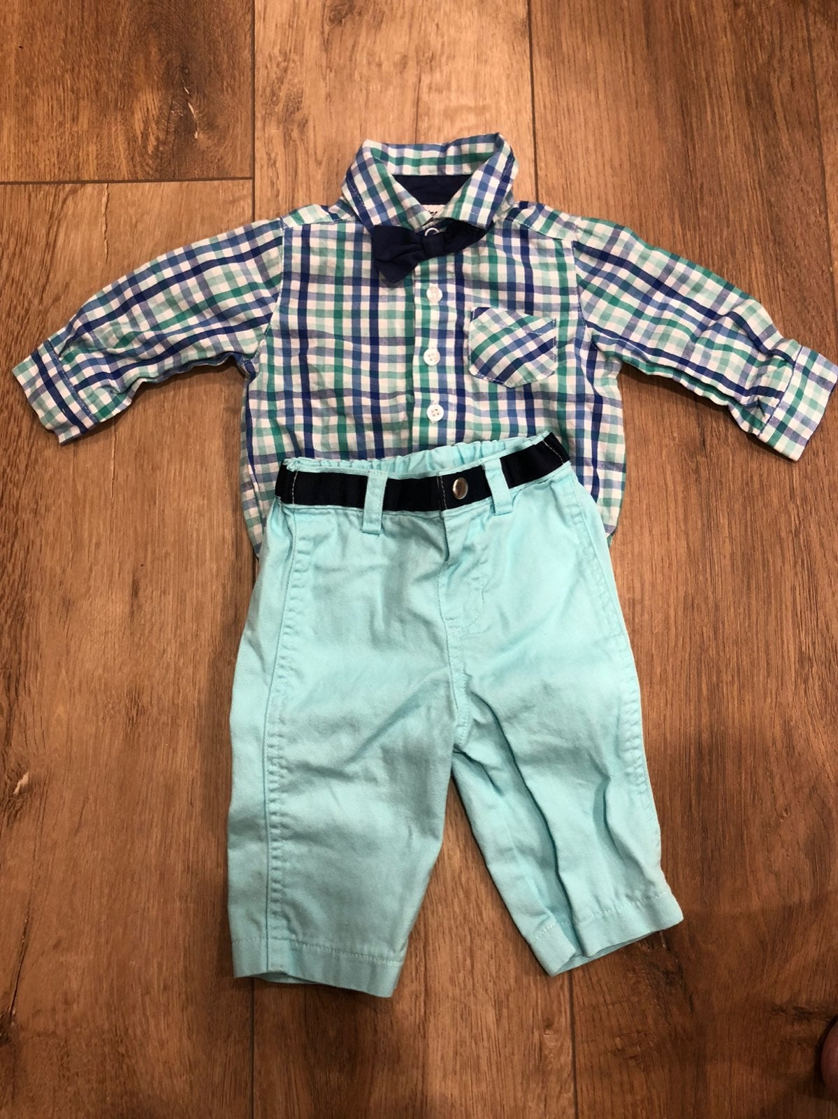 Baby boy outfit with bowtie