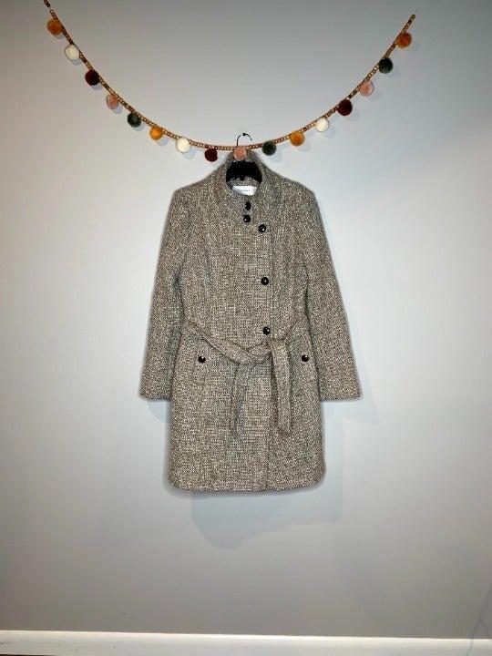T Tahari textured pea coat