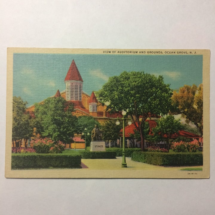 Ocean Grove NJ Vtg Postcard Auditorium