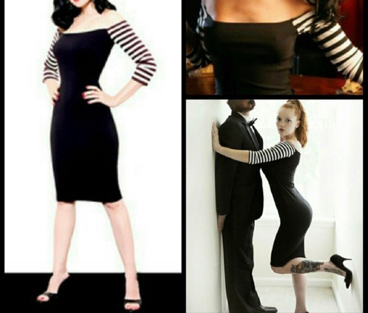 Mode Merr XXL Sleeve striped dress