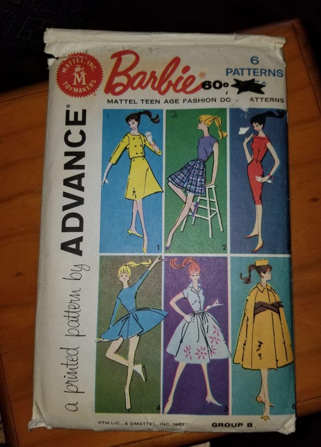 1961 Barbie Mattel Teen Age pattern