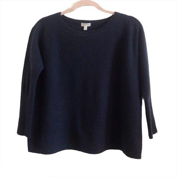 Garnet Hill 100% Cashmere Boxy Sweater