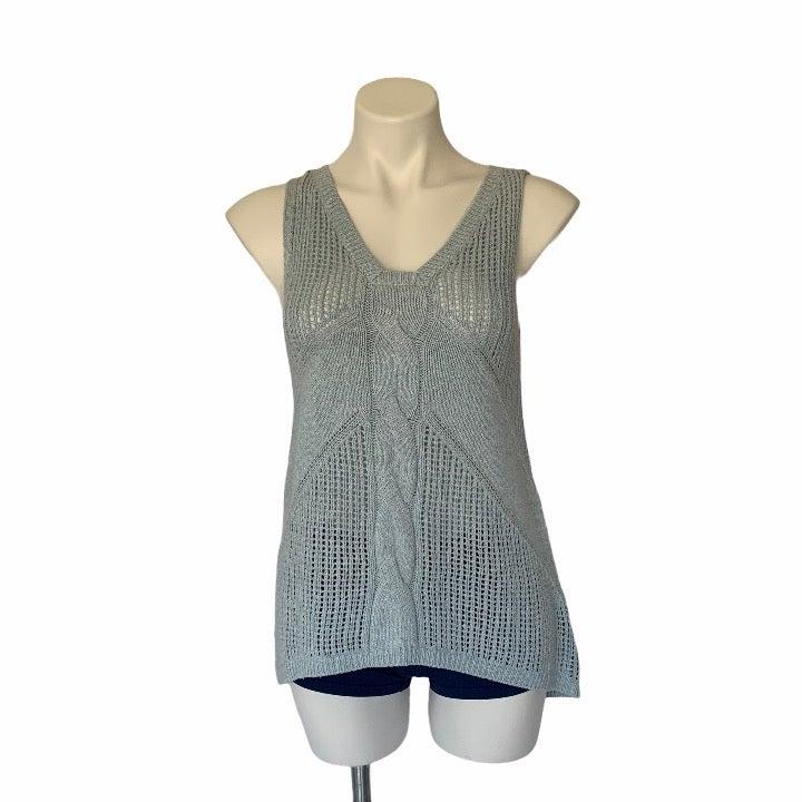 CAbi Blue Sweater Tank Top