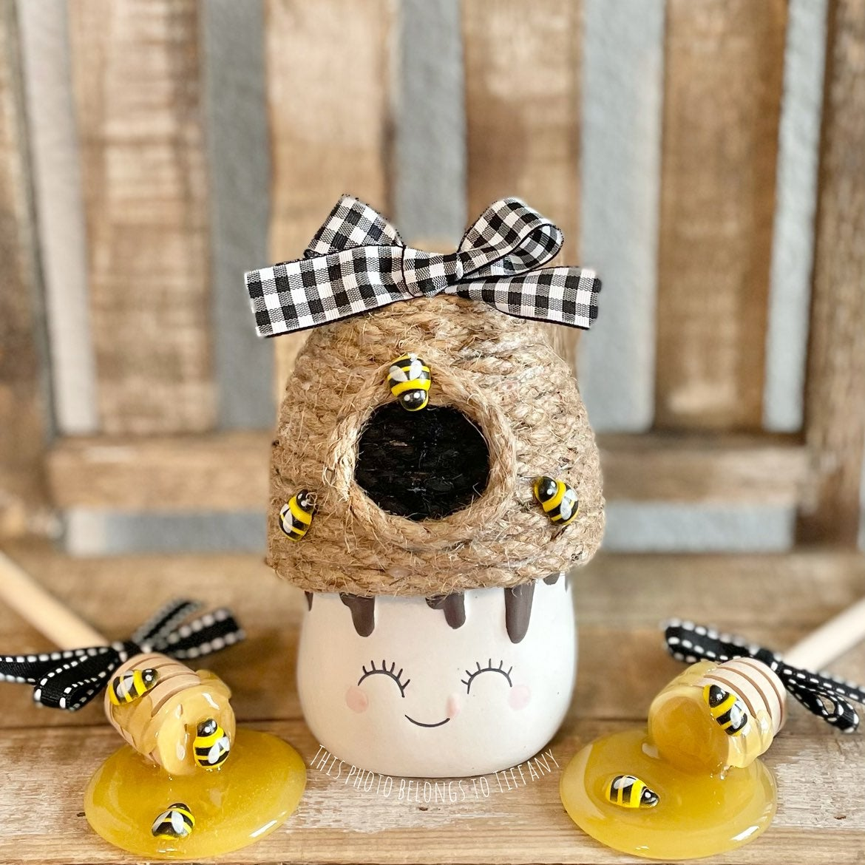 Marshmallow Mug Bee Skep Beehive Hat