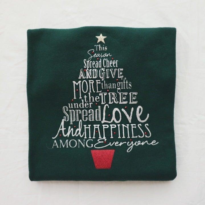 Christmas Tree Graphic Longsleeve Tshirt