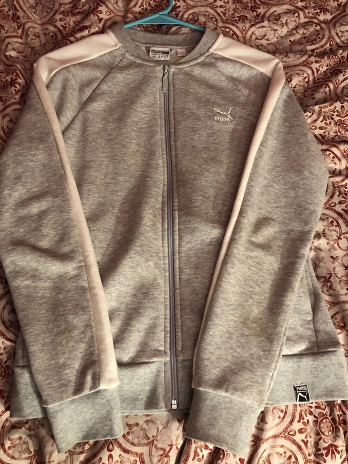 PUMA grey/white sweater