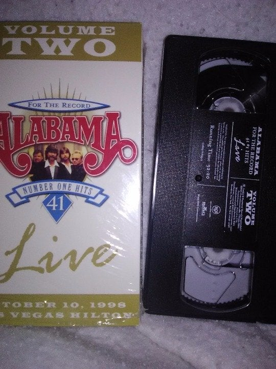 Alabama Live: For the Record- VHS
