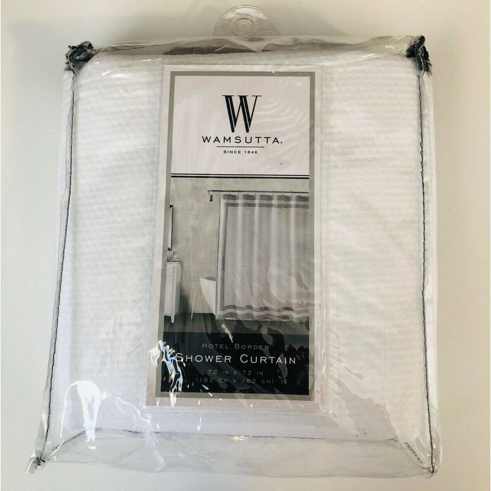 Wamsutta Hotel Border Shower Curtain
