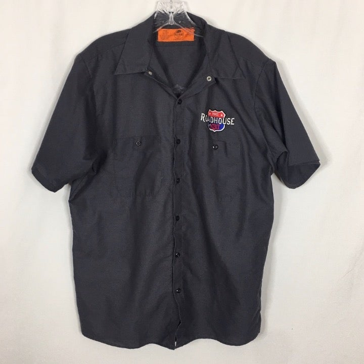 Red Kap Men's Button Front Shirt ~ L