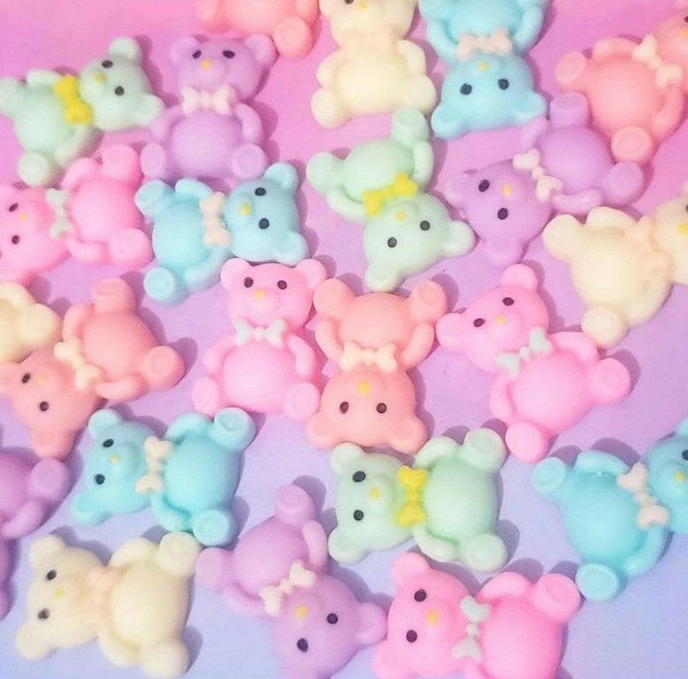 Pastel Kawaii Teddy Bear Flatback Cabs