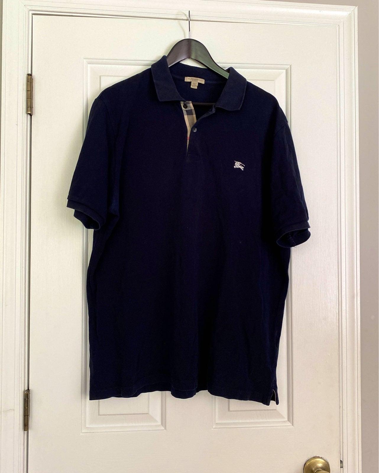 Burberry Navy Blue Polo Shirt xxl