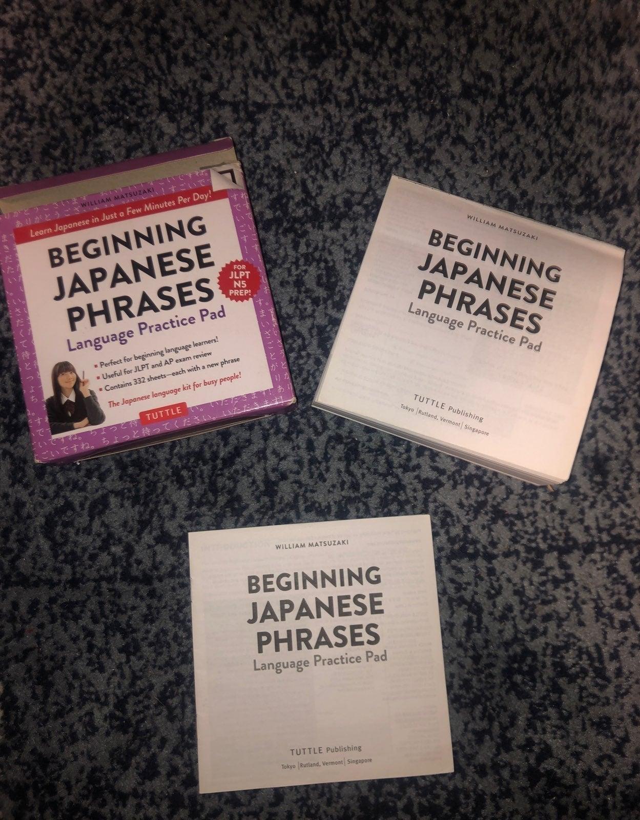 Beginning Japanese Phrases paperback kit