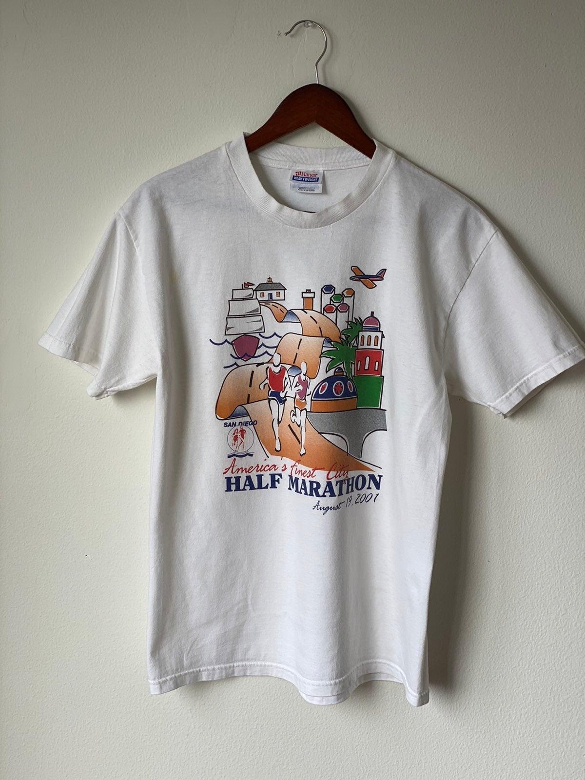 Vtg San Diego Marathon Shirt Sz M