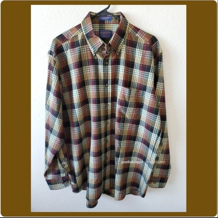 NWOT Sir Pendleton Plaid Wool Shirt Lrg