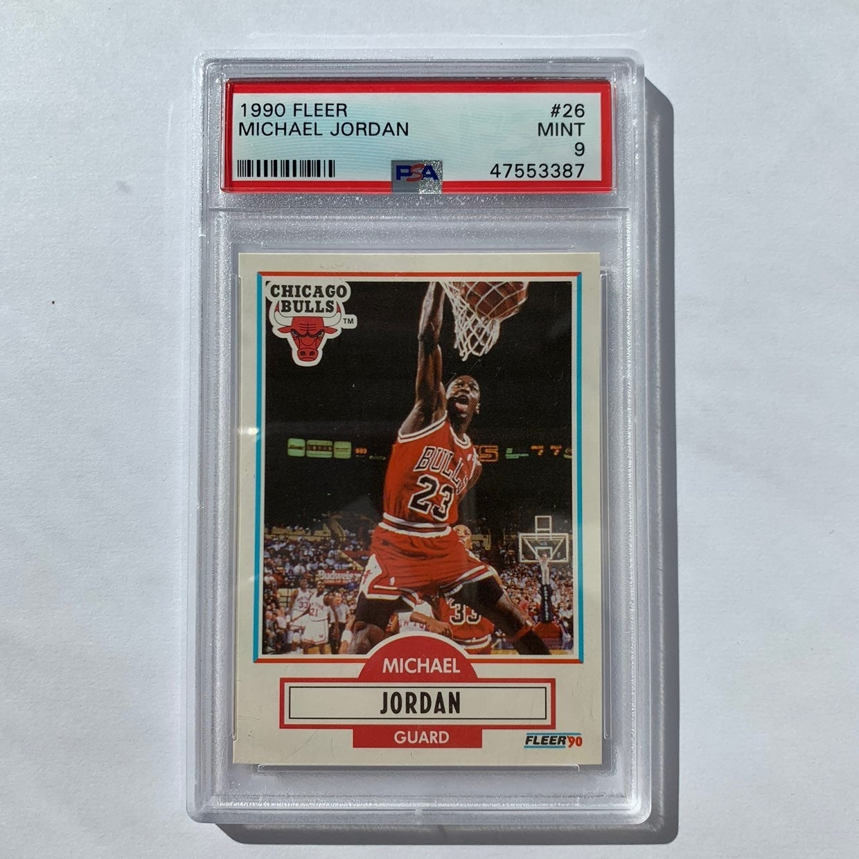 1990 #26 Fleer Michael Jordan PSA 9