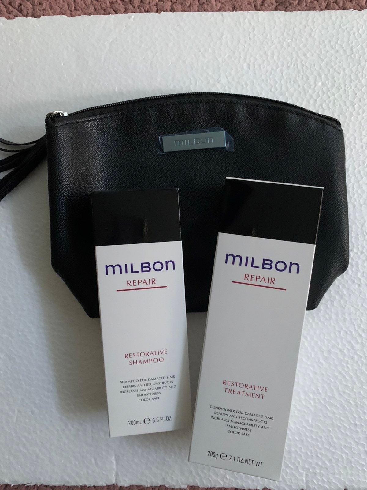 Milbon shampoo conditioner set
