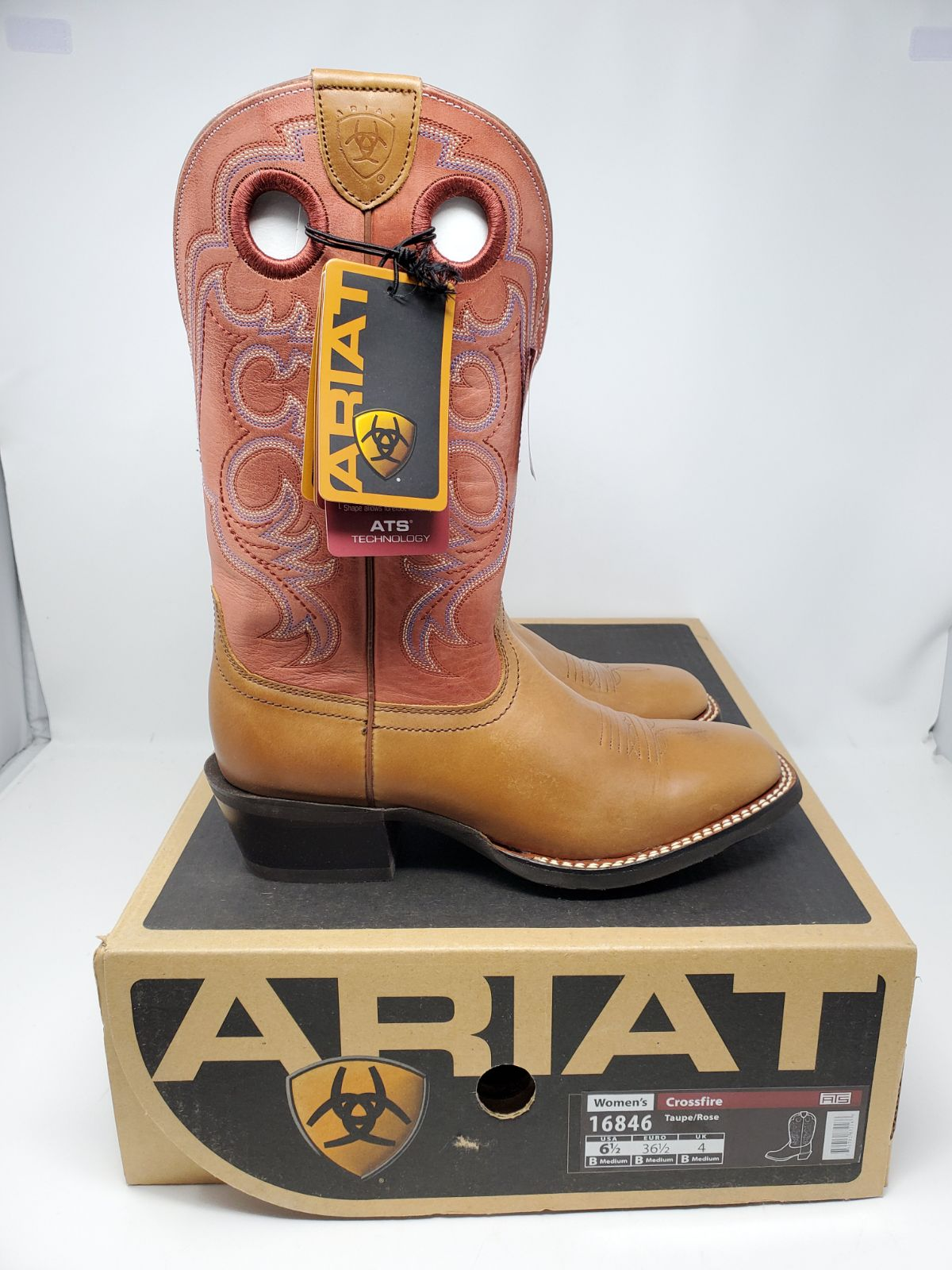 BRAND NEW Ariat ATS Womens Leather Rawhi