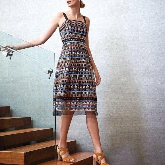 Antonio Melani Gwynn embroidered dress